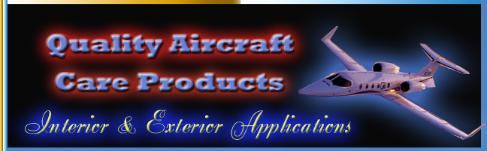 Quality interior and exterior aircraft detailing care products.